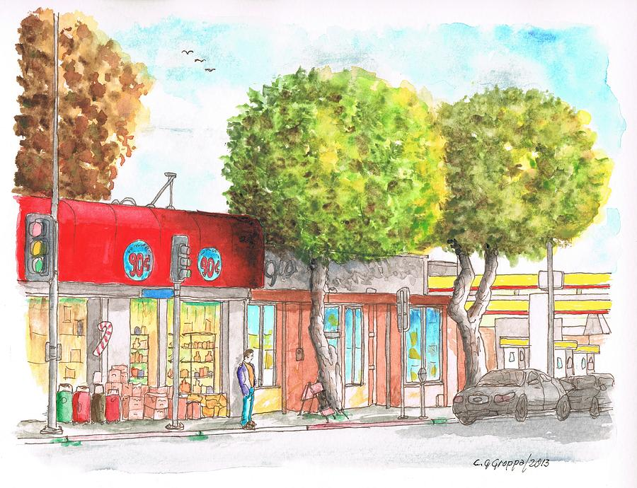 Two Tween Trees In Santa Monica Blvd - Santa Monica - Ca Painting