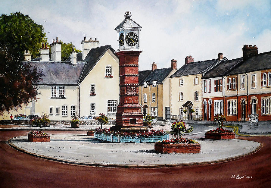 Andrew Read Painting - Twyn Square Usk Wales by Andrew Read