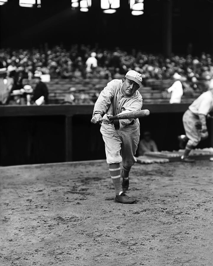 Ty Cobb Batting Photograph