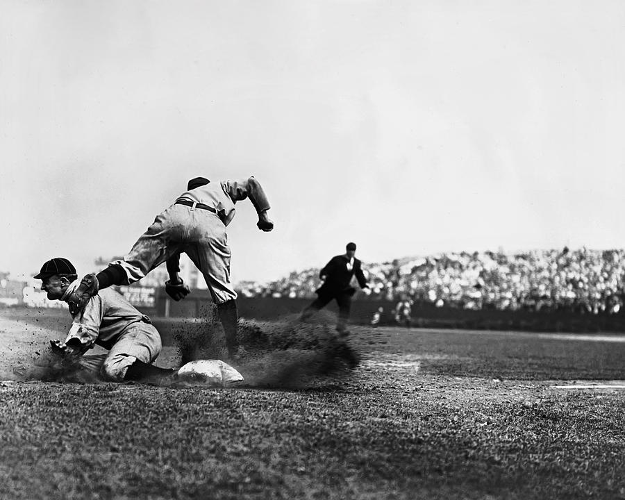 Ty Cobb Famous Slide Photograph