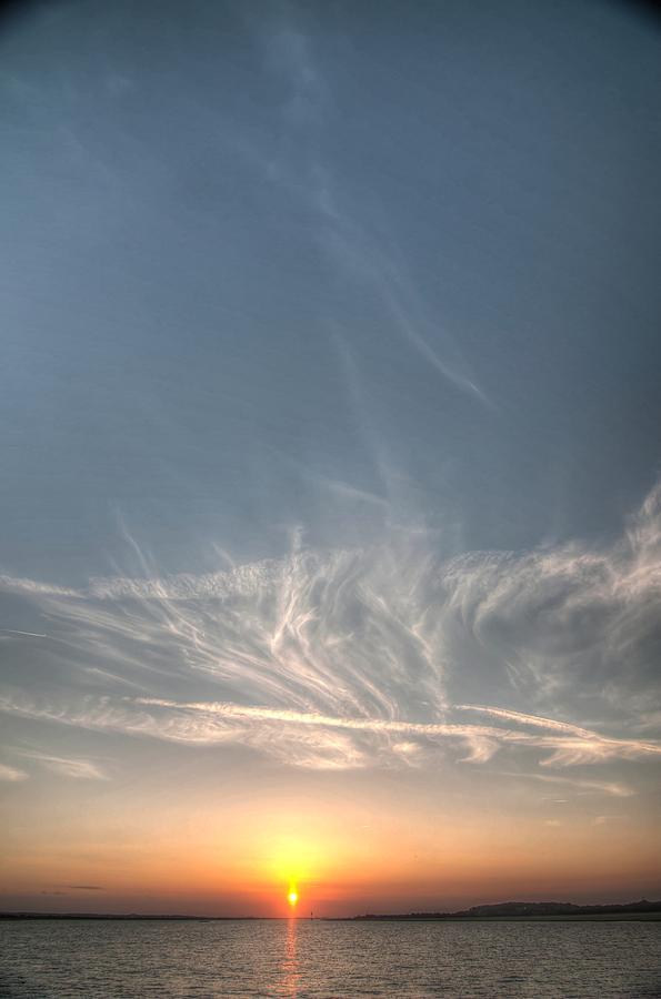Tybee Sunset 2 Pyrography