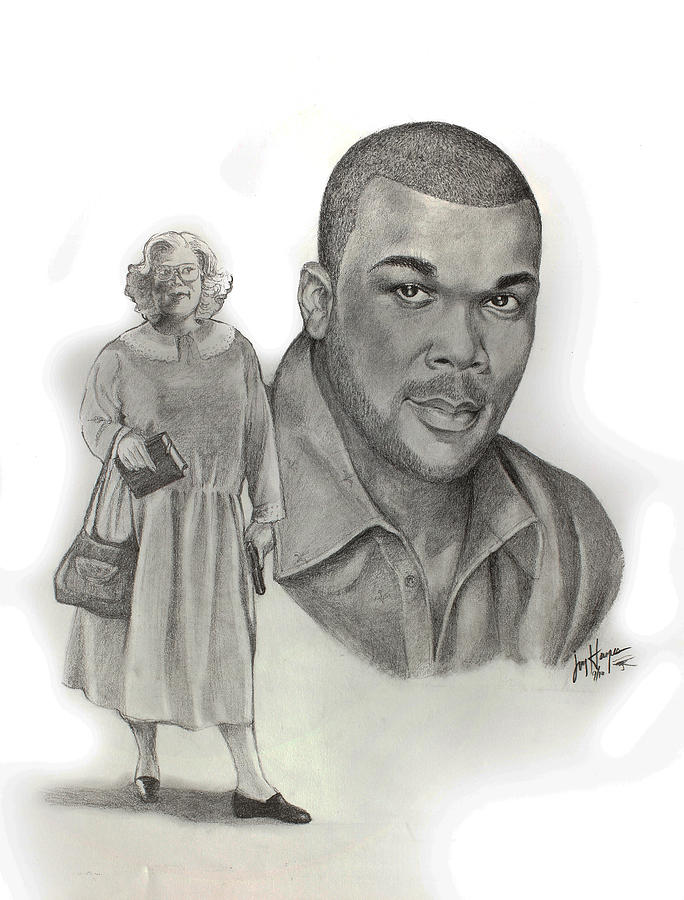 Tyler As Madea Drawing