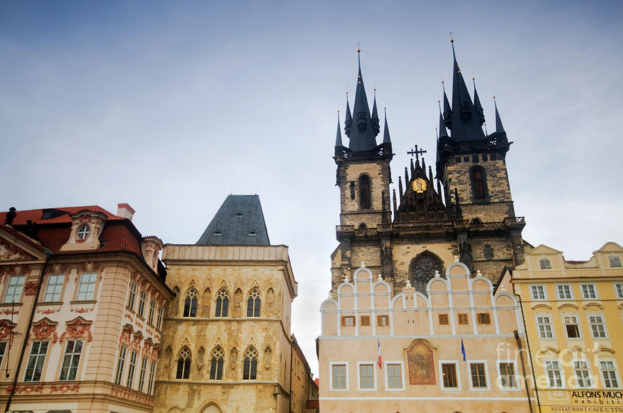 Tyn Church In Prague Photograph  - Tyn Church In Prague Fine Art Print