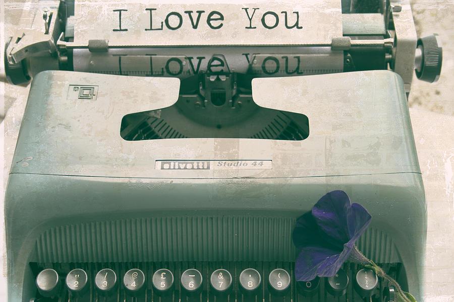 Typewriter Love Photograph