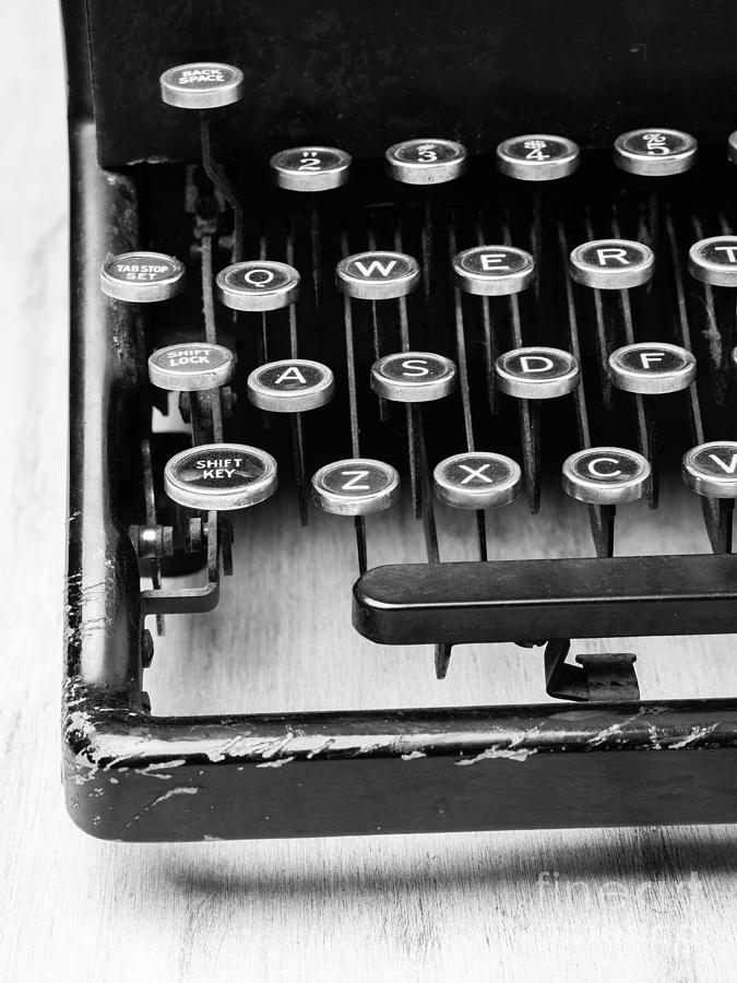 Typewriter Triptych Part 1 Photograph  - Typewriter Triptych Part 1 Fine Art Print