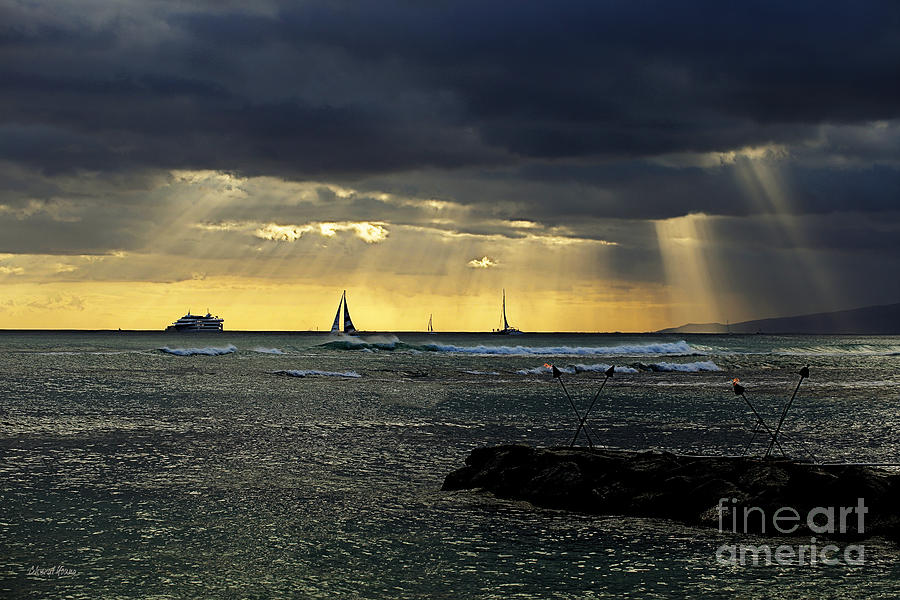 Hawaii Photograph - Typical Hawaiian Evening by Cheryl Young
