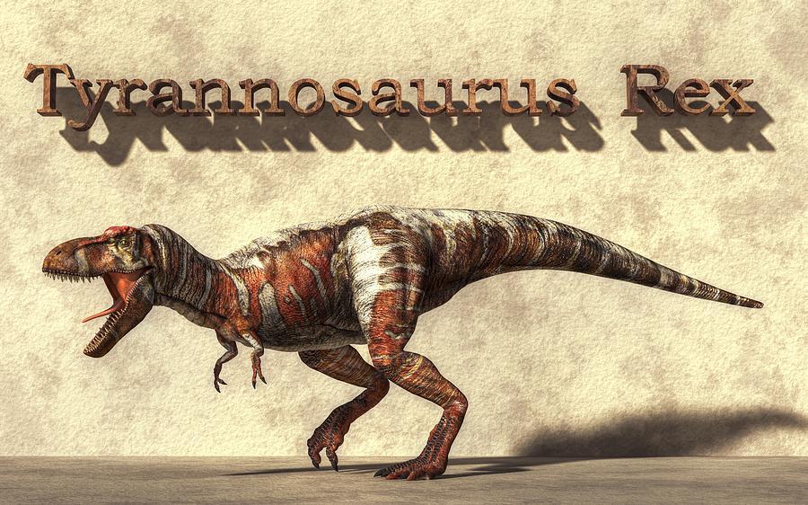 Tyrannosaurus Digital Art - Tyrannosaurus by Daniel Eskridge