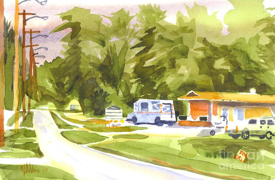 U S Mail Delivery Painting