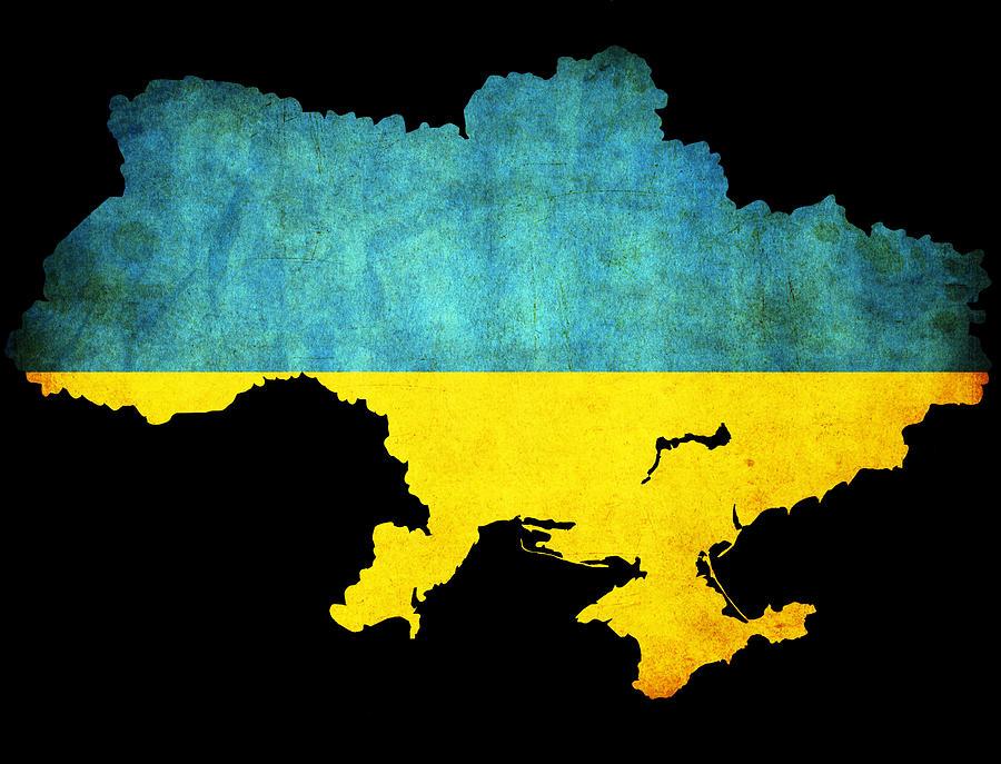 Ukraine Map Outline Ukraine Grunge Map Outline