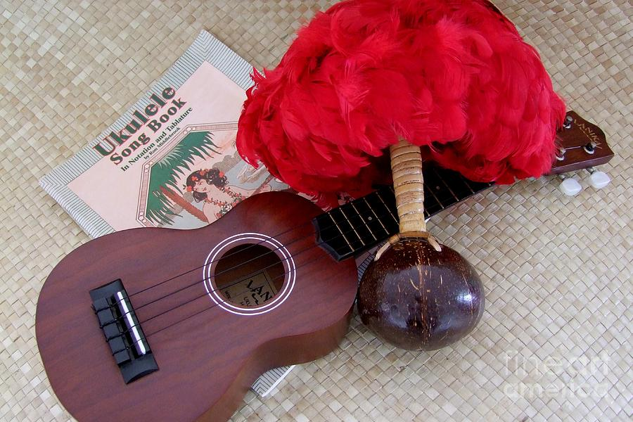 Ukulele Ipu And Songbook Photograph  - Ukulele Ipu And Songbook Fine Art Print
