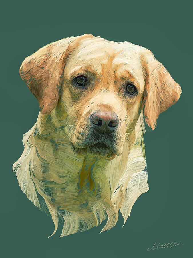 Labrador Painting - Ulli by Marina Likholat
