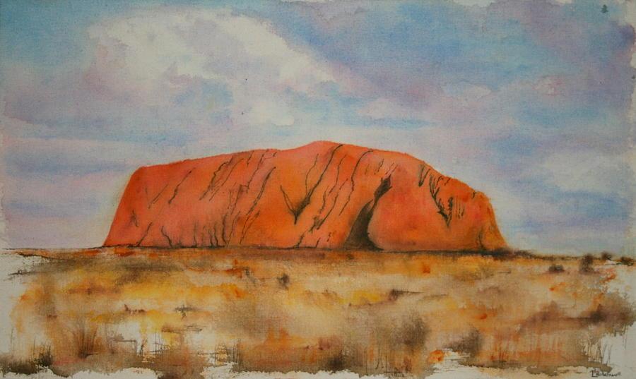Uluru Painting - Uluru by Lyndsey Hatchwell