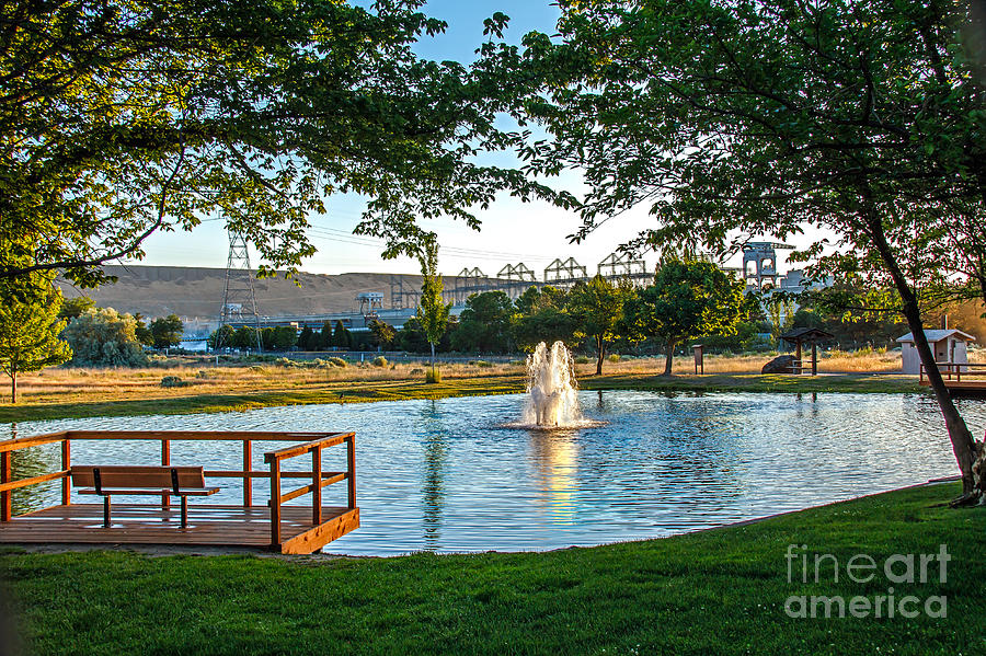 Umatilla Fountain Pond Photograph  - Umatilla Fountain Pond Fine Art Print