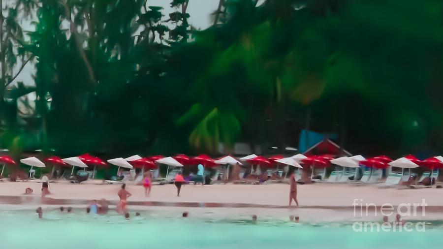 Umbrella Beach Photograph