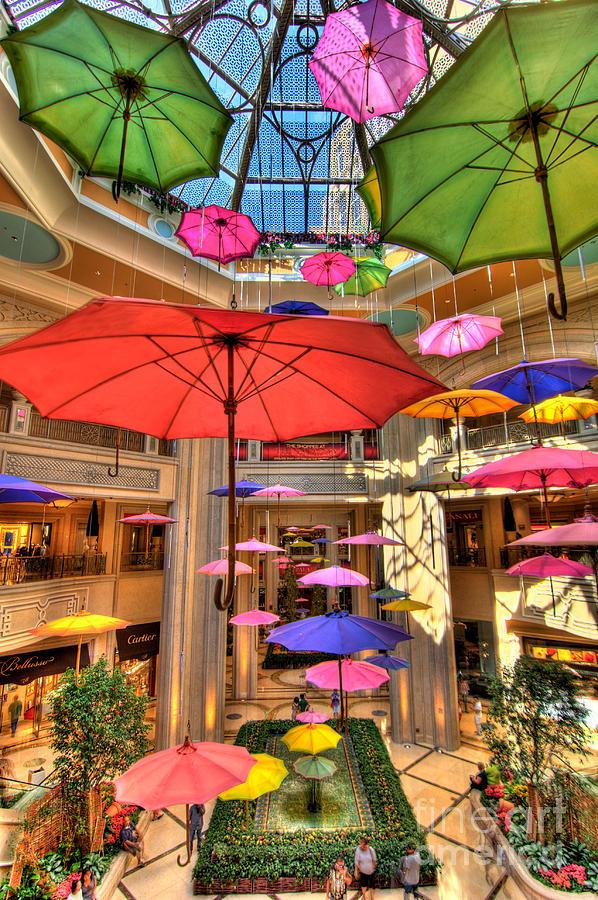 Umbrellas At Palazzo Shops Photograph