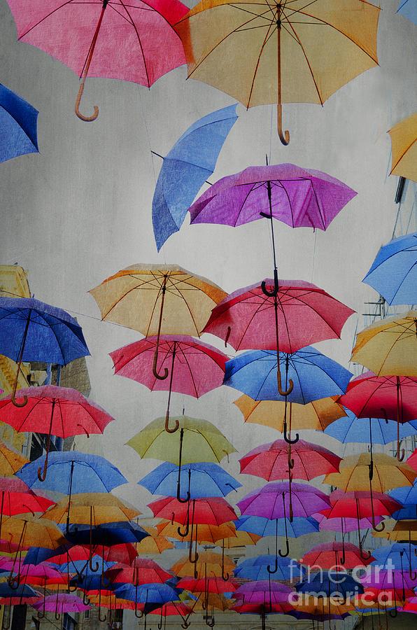 Umbrellas Pyrography