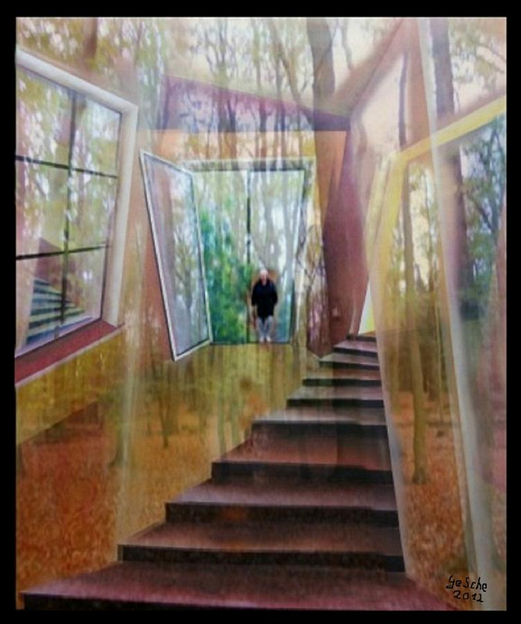 Herbst Painting - und hol mir den Herbst ins Haus by Gertrude Scheffler