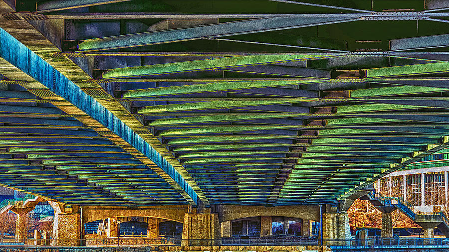 Under Hennepin Avenue Bridge Photograph
