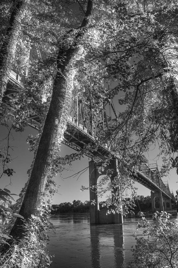 Under The Missouri River Bridge At Washington Digital Art