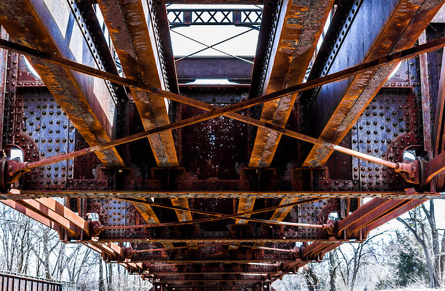 Under The Muncie Bridge Photograph  - Under The Muncie Bridge Fine Art Print