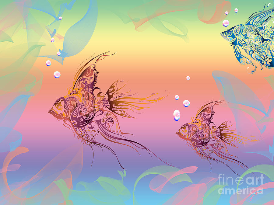 Under The Sea Angel Fish Photograph  - Under The Sea Angel Fish Fine Art Print