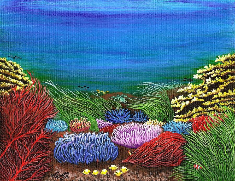 Under The Water Painting  - Under The Water Fine Art Print
