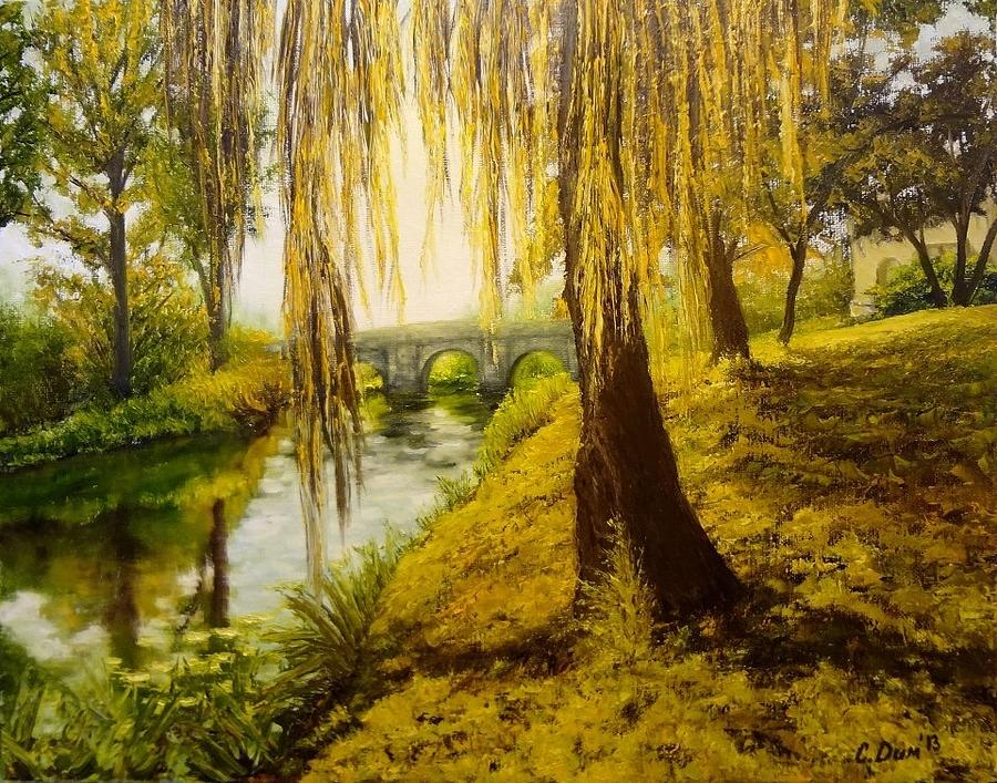 Landscape Painting - Under The Willow by Svetla Dimitrova