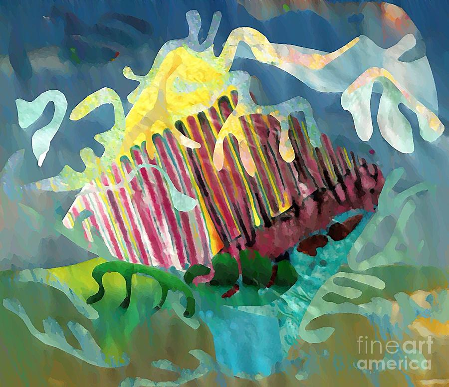 Undersea Still Life Mixed Media  - Undersea Still Life Fine Art Print