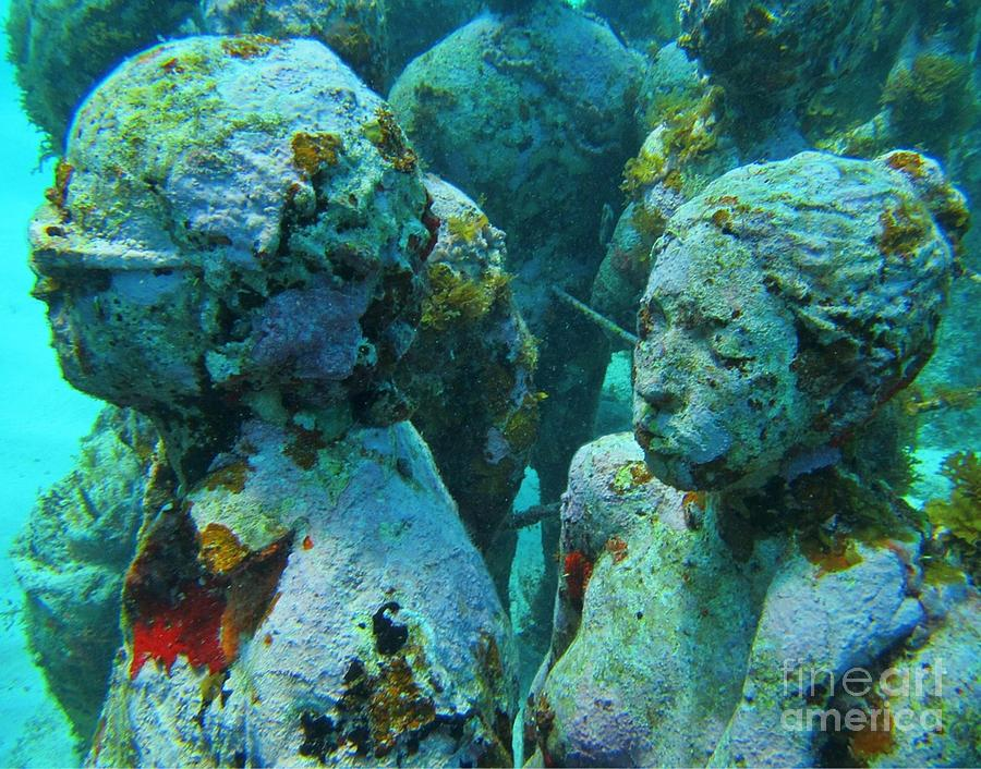 Underwater Tourists Photograph  - Underwater Tourists Fine Art Print
