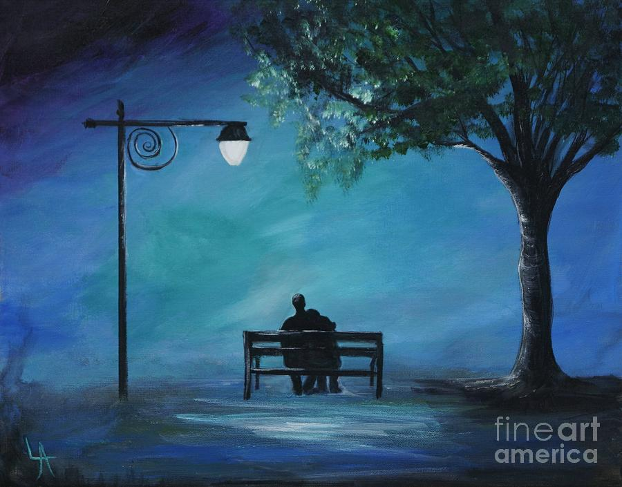 Unforgettable Evening Painting By Leslie Allen