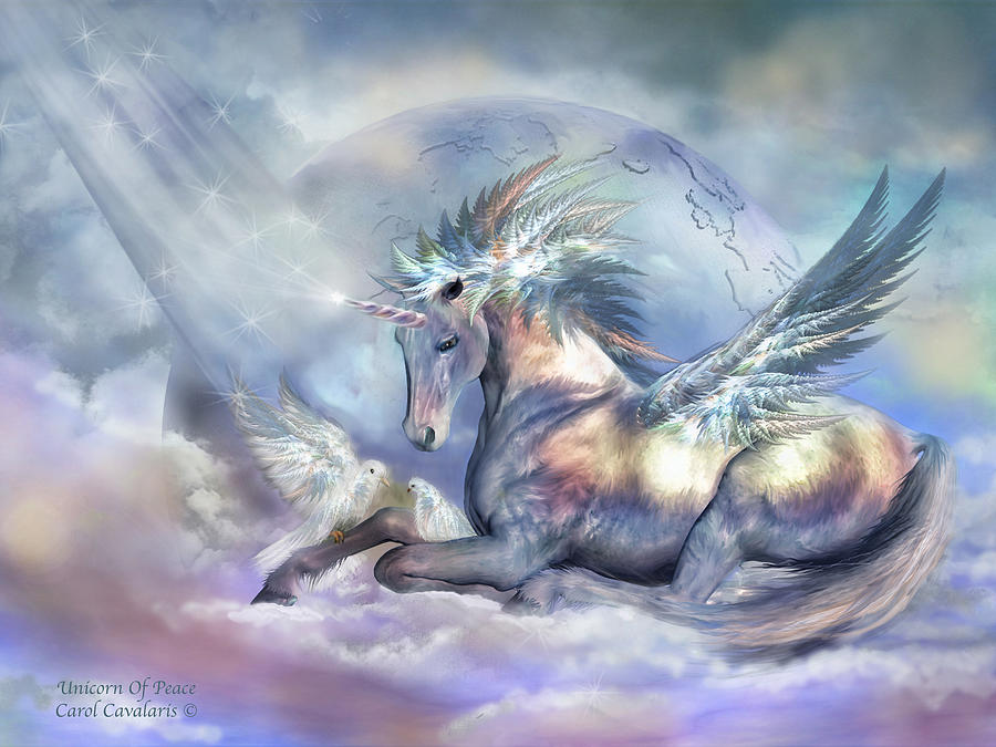 Unicorn Of Peace Mixed Media