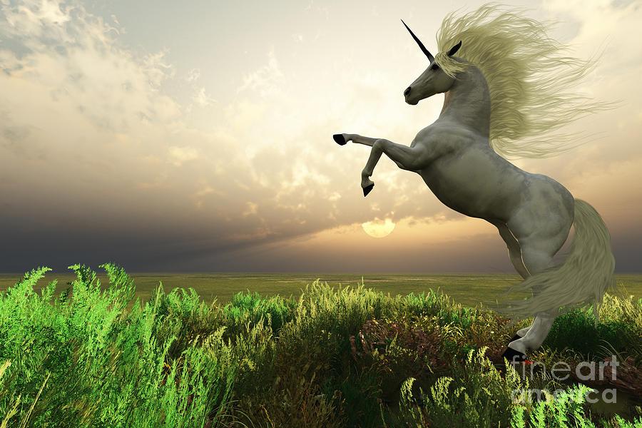Unicorn Stag Painting