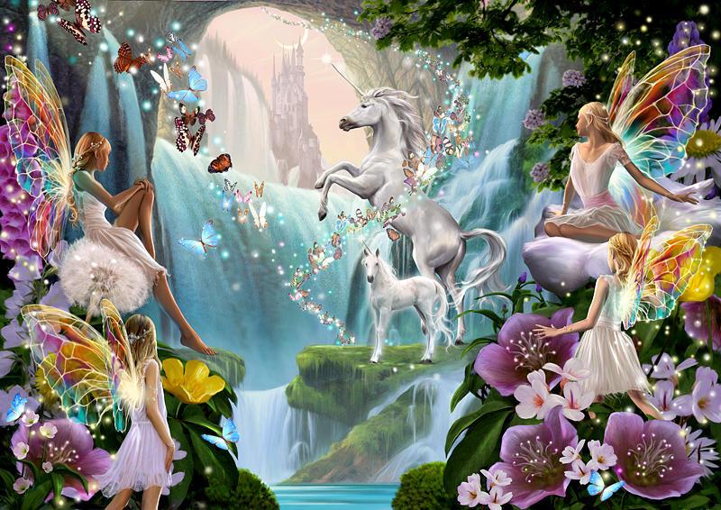 unicorn and fairy waterfall photographgarry walton
