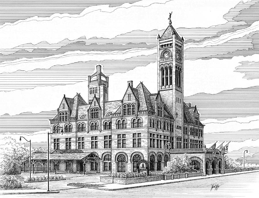 Union Station In Nashville Tn Drawing