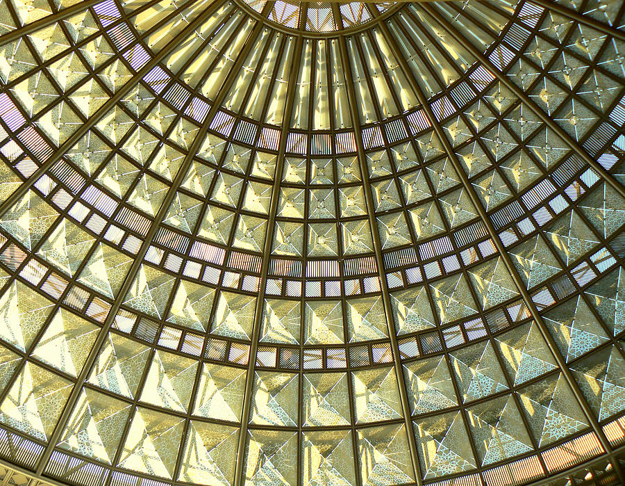 Geometric Abstract Photograph - Union Station Skylight by Karyn Robinson