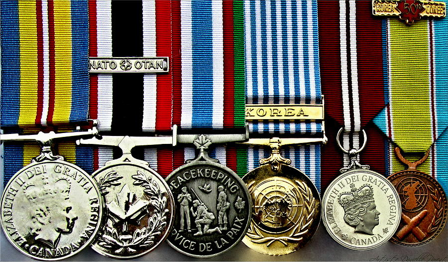 United Nations Peacekeeping Korean War Nato Medals Photograph