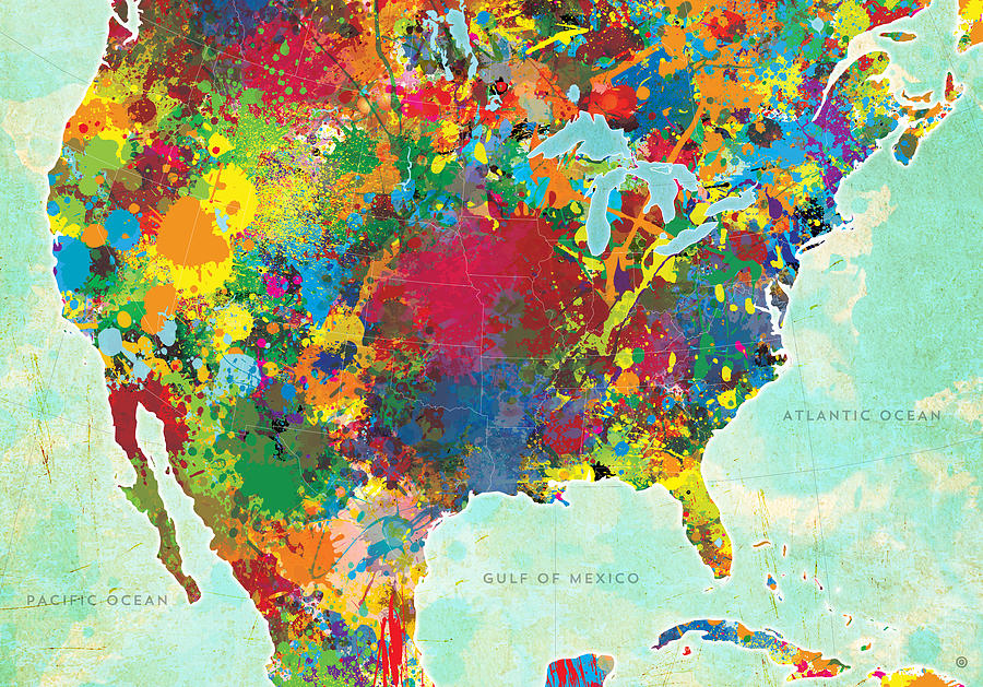 Vector Digital Art - United States Map by Gary Grayson