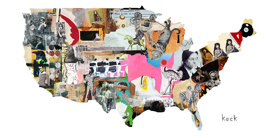 United States Map Painting  - United States Map Fine Art Print