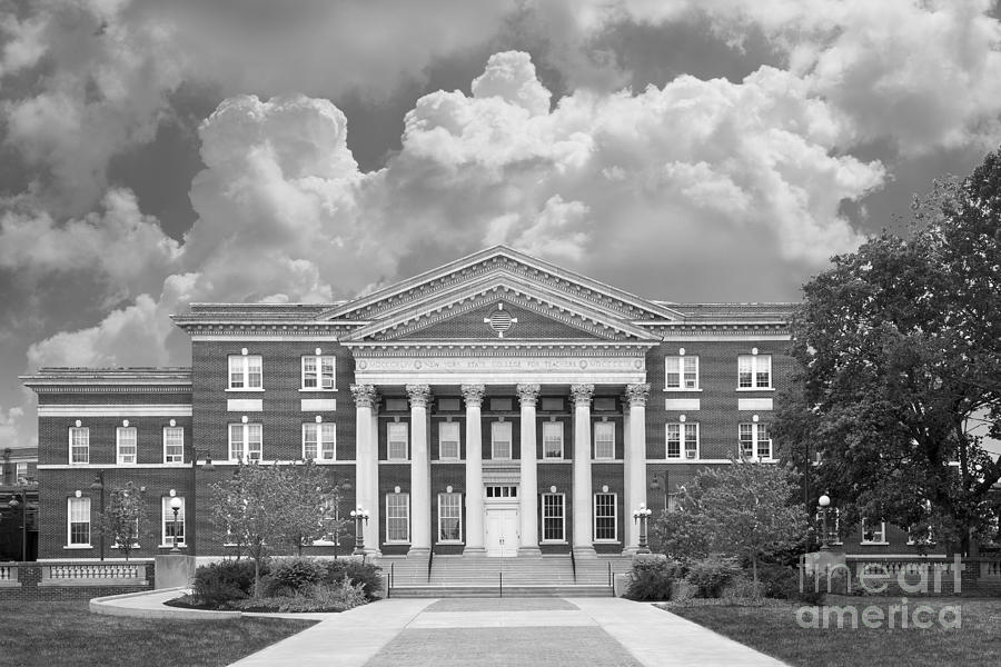 University At Albany Draper Hall Photograph  - University At Albany Draper Hall Fine Art Print