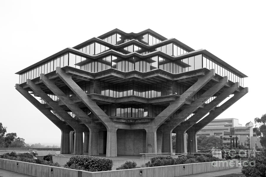 University Of California San Diego Geisel Library Photograph  - University Of California San Diego Geisel Library Fine Art Print