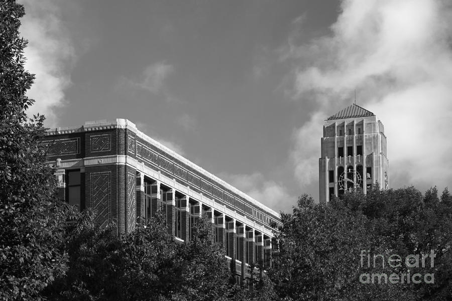 University Of Michigan Natural Sciences Building With Burton Tower Photograph  - University Of Michigan Natural Sciences Building With Burton Tower Fine Art Print