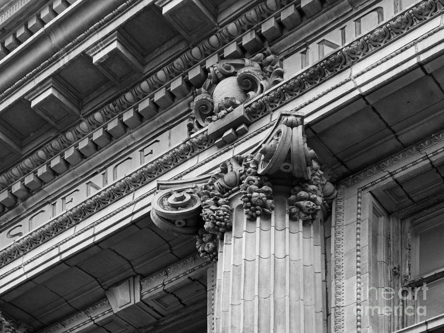University Of Pennsylvania Column Detail Photograph  - University Of Pennsylvania Column Detail Fine Art Print