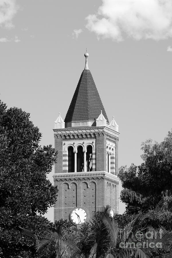 University Of Southern California Clock Tower Photograph  - University Of Southern California Clock Tower Fine Art Print