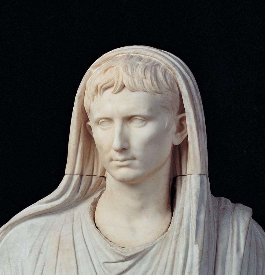 Detail Photograph - Unknown Artist, Statue Of Augustus by Everett