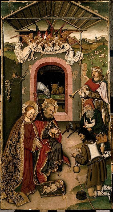 Holy Photograph - Unknown, Crib Altarpiece, 15th Century by Everett