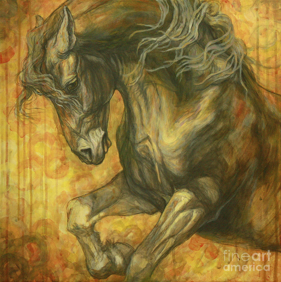 Unleashed Painting  - Unleashed Fine Art Print