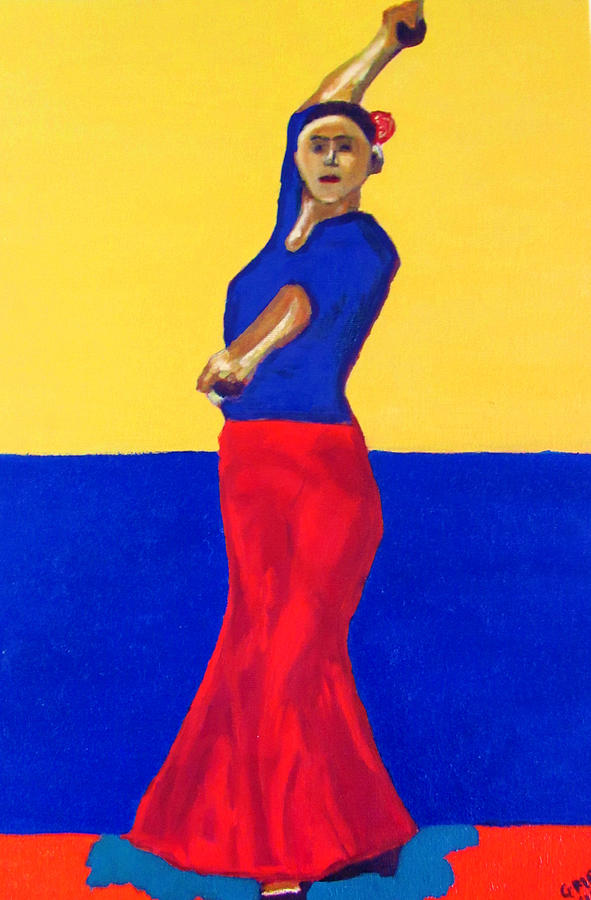 Unnamed Flamenco Dancer Painting  - Unnamed Flamenco Dancer Fine Art Print