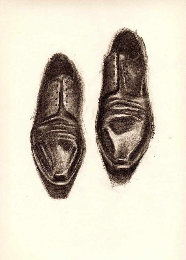 Shoes Drawing - Untitled by Dallas Roquemore
