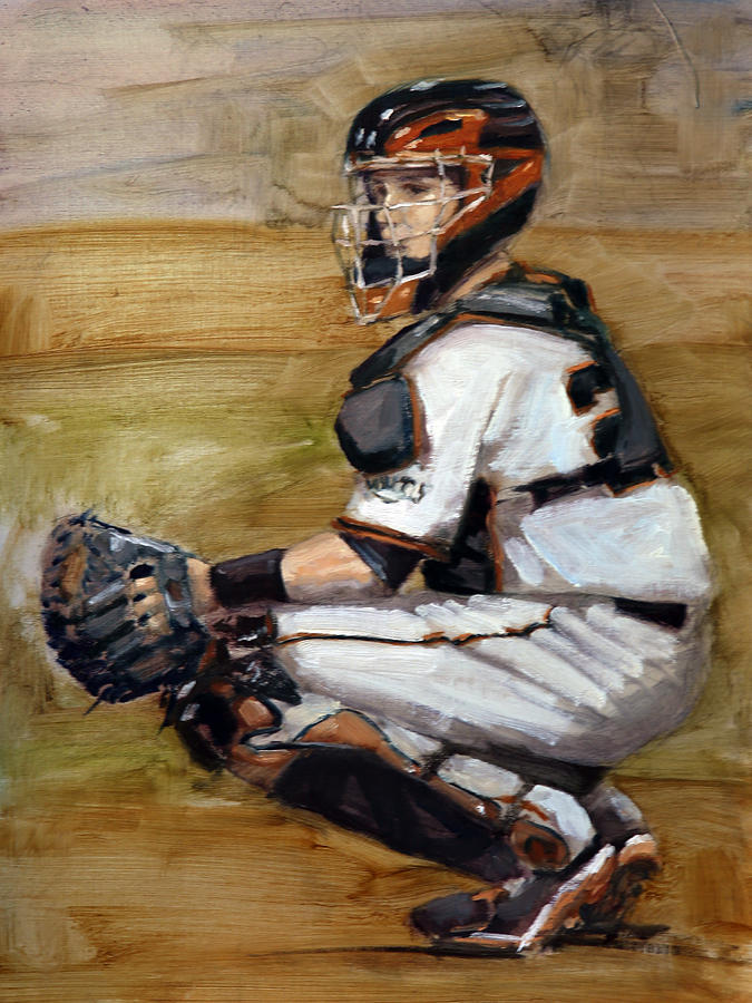 Buster Posey Painting Painting - Untitled by Darren Kerr