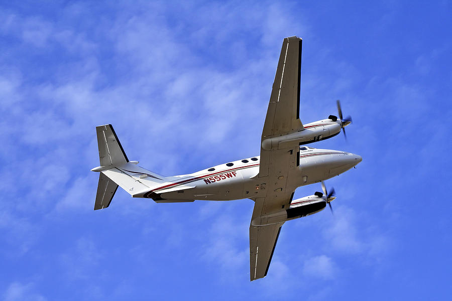 Beechcraft Photograph - Up And Away by Jason Politte